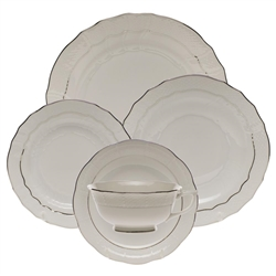 Herend Platinum Edge Five Piece Place Setting