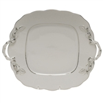 Herend Platinum Edge Square Cake Plate