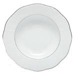 Herend Platinum Edge Rim Soup Plate