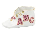 Herend ABC Baby Shoe Figurine Pink Fishnet