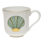 Herend Aquatic Mug Green Scallop Shell