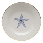 Herend Aquatic Dessert Plate Blue Starfish