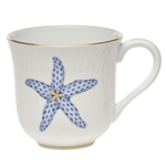 Herend Aquatic Mug Blue Starfish