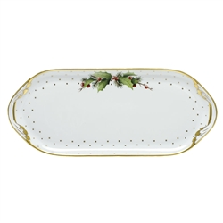 Herend China Winter Shimmer Porcelain Sandwich Tray