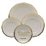 Herend Golden Laurel Five Piece Place Setting