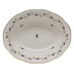 Herend Blue Garland Oval Vegetable Dish