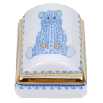 Herend Tooth Fairy Box Blue Fishnet