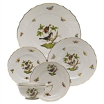 Herend Rothschild Bird Five Piece Place Setting Motif #4