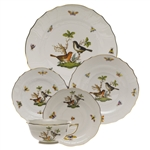 Herend Rothschild Bird Five Piece Place Setting Motif #5