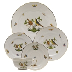Herend Rothschild Bird Five Piece Place Setting Motif #7