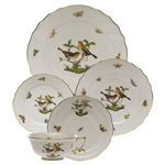 Herend Rothschild Bird Five Piece Place Setting Motif #9