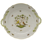 Herend Rothschild Bird Plate With Handles
