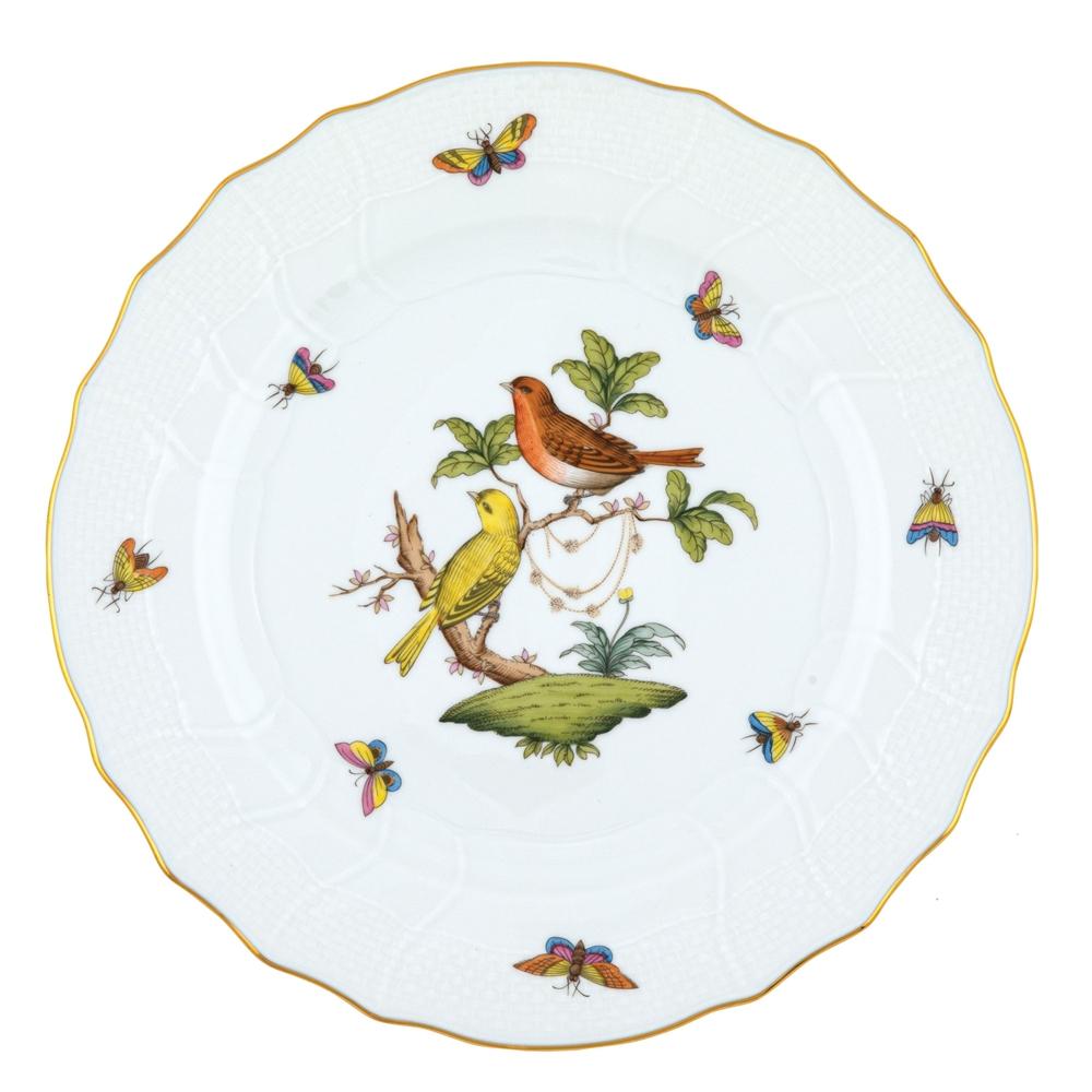 Herend Rothschild Bird Dinner Plate Motif 6 At Herendstore