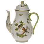 Herend Rothschild Bird Coffee Pot With Rose