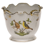 Herend Rothschild Bird Cachepot Ribbed