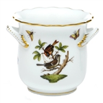 Herend Rothschild Bird Mini Cachepot With Handles