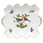 Herend Rothschild Bird Small Dish With Pearls