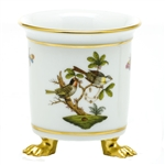 Herend Rothschild Bird Mini Cachepot With Feet