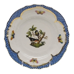 Herend Rothschild Bird Blue Bread & Butter Plate Motif #2