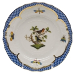 Herend Rothschild Bird Blue Bread & Butter Plate Motif #3