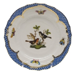 Herend Rothschild Bird Blue Bread & Butter Plate Motif #5
