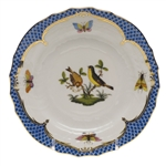 Herend Rothschild Bird Blue Bread & Butter Plate Motif #7