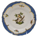Herend Rothschild Bird Blue Bread & Butter Plate Motif #8