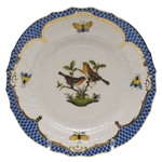 Herend Rothschild Bird Blue Bread & Butter Plate Motif #9