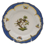 Herend Rothschild Bird Blue Bread & Butter Plate Motif #11
