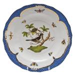 Herend Rothschild Bird Blue Dessert Plate Motif #1