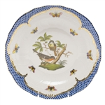 Herend Rothschild Bird Blue Dessert Plate Motif #2