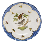 Herend Rothschild Bird Blue Dessert Plate Motif #4