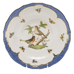 Herend Rothschild Bird Blue Dessert Plate Motif #8
