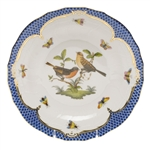 Herend Rothschild Bird Blue Dessert Plate Motif #9