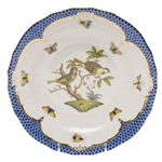 Herend Rothschild Bird Blue Dessert Plate Motif #11
