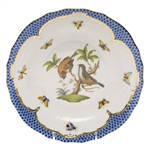 Herend Rothschild Bird Blue Dessert Plate Motif #12