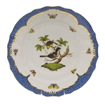 Herend Rothschild Bird Blue Dinner Plate Motif #1