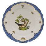 Herend Rothschild Bird Blue Dinner Plate Motif #2