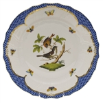 Herend Rothschild Bird Blue Dinner Plate Motif #4