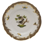 Herend Rothschild Bird Brown Bread & Butter Plate Motif #1