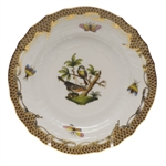 Herend Rothschild Bird Brown Bread & Butter Plate Motif #2
