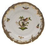 Herend Rothschild Bird Brown Bread & Butter Plate Motif #3