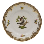 Herend Rothschild Bird Brown Bread & Butter Plate Motif #4