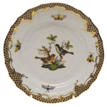 Herend Rothschild Bird Brown Bread & Butter Plate Motif #5
