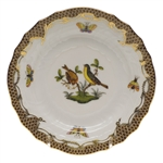 Herend Rothschild Bird Brown Bread & Butter Plate Motif #7
