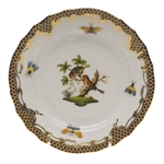 Herend Rothschild Bird Brown Bread & Butter Plate Motif #10