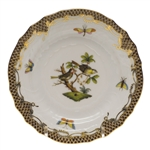 Herend Rothschild Bird Brown Bread & Butter Plate Motif #11