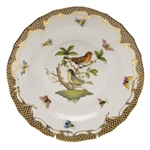 Herend Rothschild Bird Brown Dessert Plate Motif #3