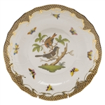 Herend Rothschild Bird Brown Dessert Plate Motif #4