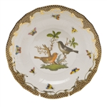 Herend Rothschild Bird Brown Dessert Plate Motif #5